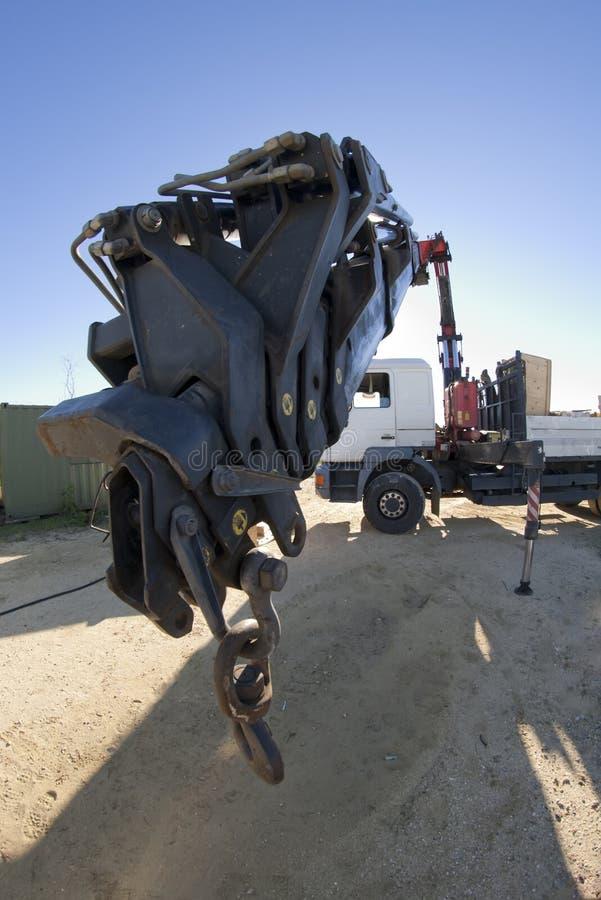 Camion di caricamento immagine stock