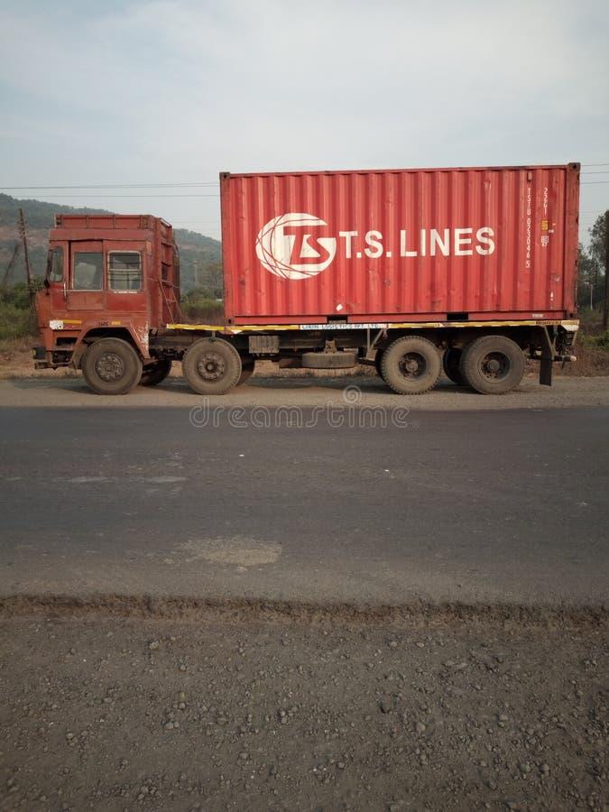 Camion di Catgo fotografie stock