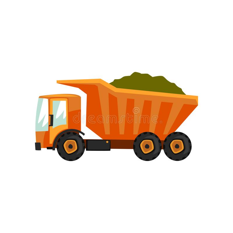 Camion di consegna agricolo, trasporto dell'illustrazione di vettore del grano su un fondo bianco illustrazione vettoriale