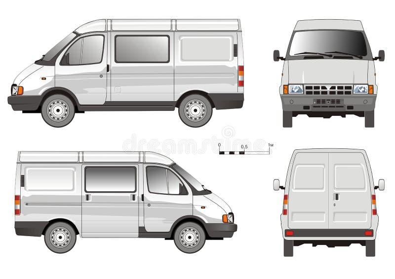 Camion di consegna di vettore piccolo illustrazione di stock