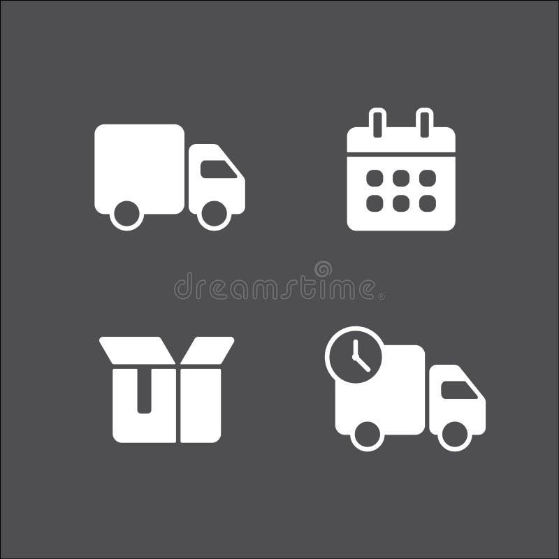 Camion di consegna veloce di trasporto Fissi la progettazione delle icone illustrazione di stock