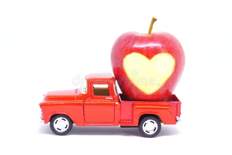 Camion di giorno di biglietti di S. Valentino fotografie stock libere da diritti