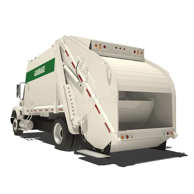Camion di immondizia isolato illustrazione vettoriale