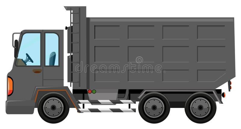 Camion di immondizia isolato su fondo bianco illustrazione di stock