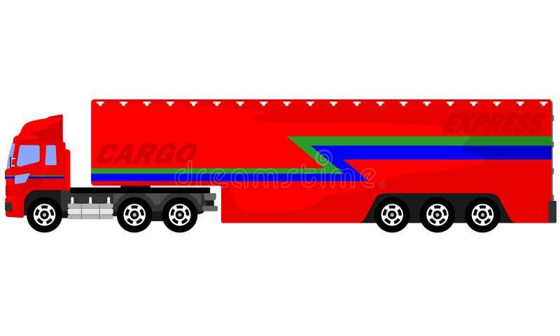 Camion di lusso del contenitore illustrazione di stock