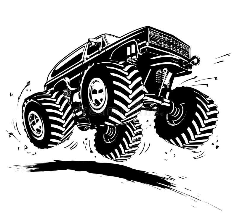 Camion di mostro del fumetto illustrazione di stock