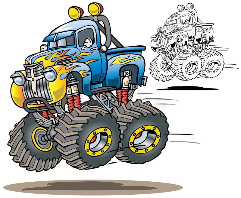 Camion di mostro fiammeggiato royalty illustrazione gratis