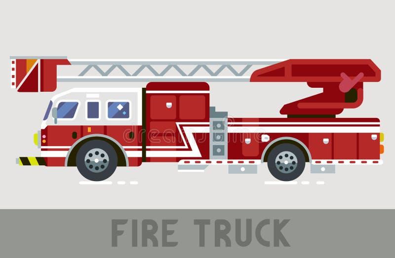 Camion di reparto del fuoco illustrazione di stock