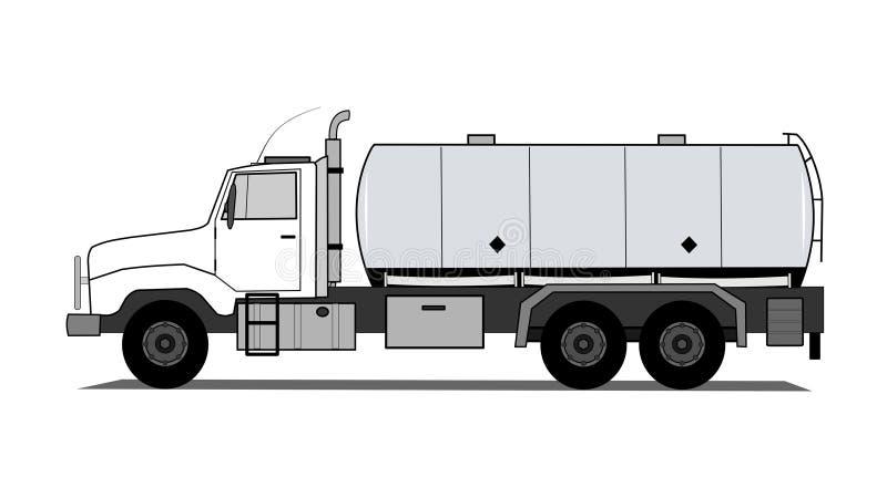 Camion di serbatoio illustrazione vettoriale