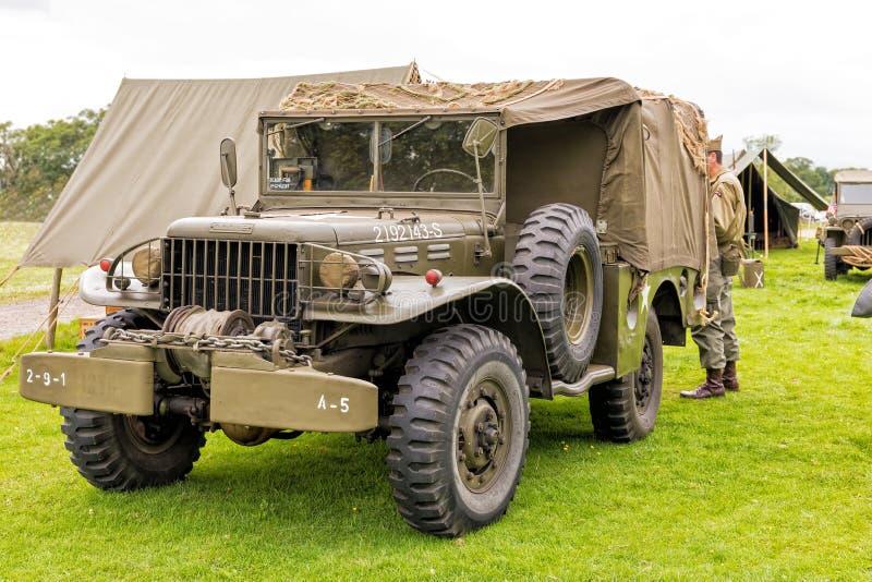 Camion di serie del WC di Dodge dell'esercito americano di WWll fotografie stock
