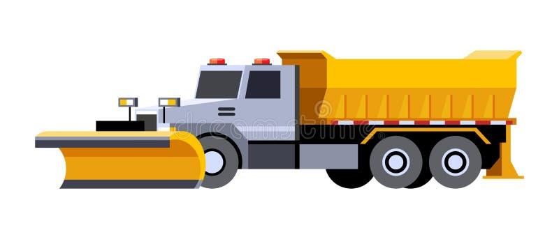 Camion di utilità dell'aratro di neve illustrazione di stock