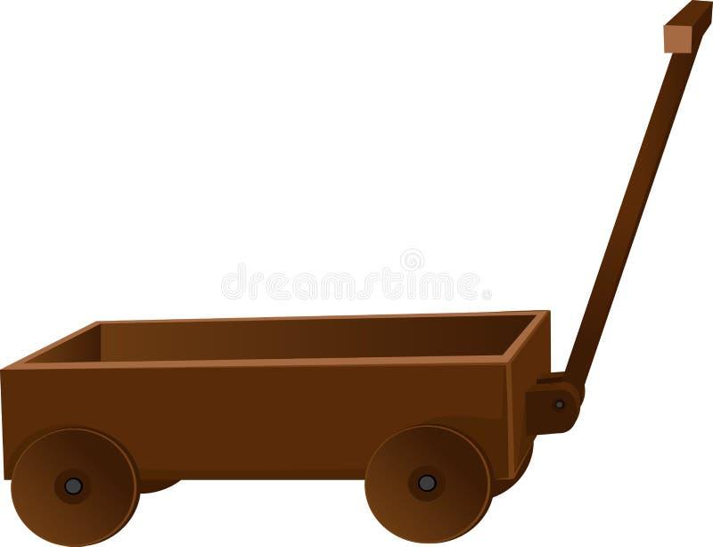 Camion en bois classique pour des jouets illustration libre de droits