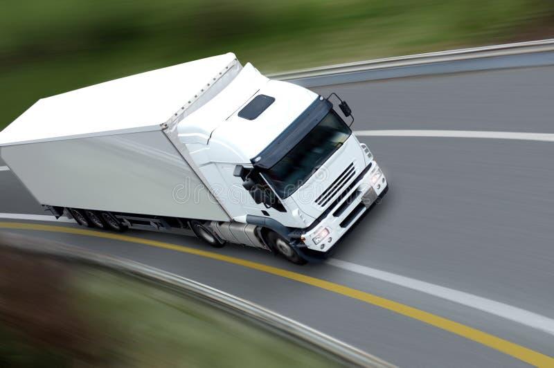 Camion et remorque blancs photos stock