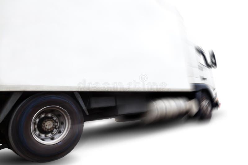 Camion et tache floue de mouvement photographie stock