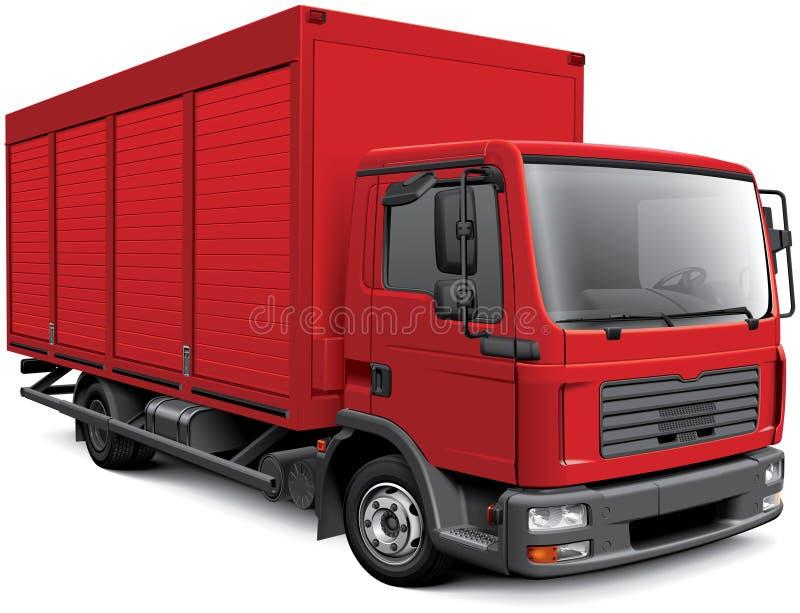 Camion europeo della scatola illustrazione di stock