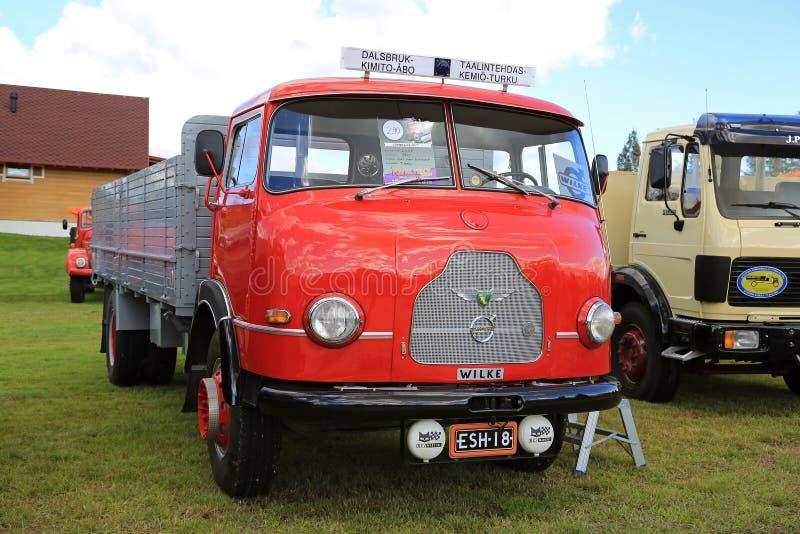 Camion finlandais rare de vintage de Wilke photo stock