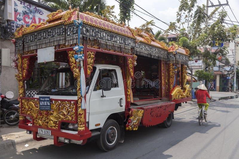 Camion funereo nel Vietnam immagini stock libere da diritti