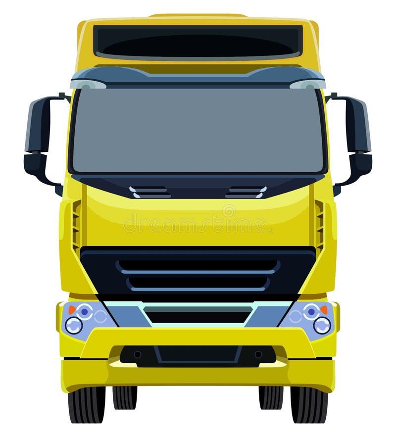 Camion giallo anteriore illustrazione di stock
