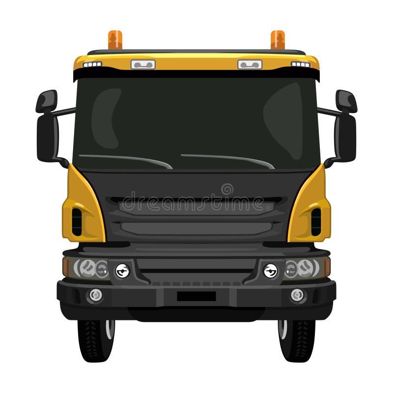 Camion giallo anteriore royalty illustrazione gratis
