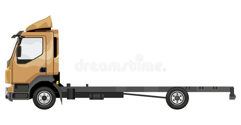 Camion giallo senza un rimorchio illustrazione vettoriale