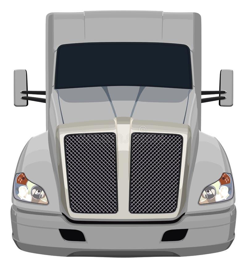 Camion grigio anteriore royalty illustrazione gratis