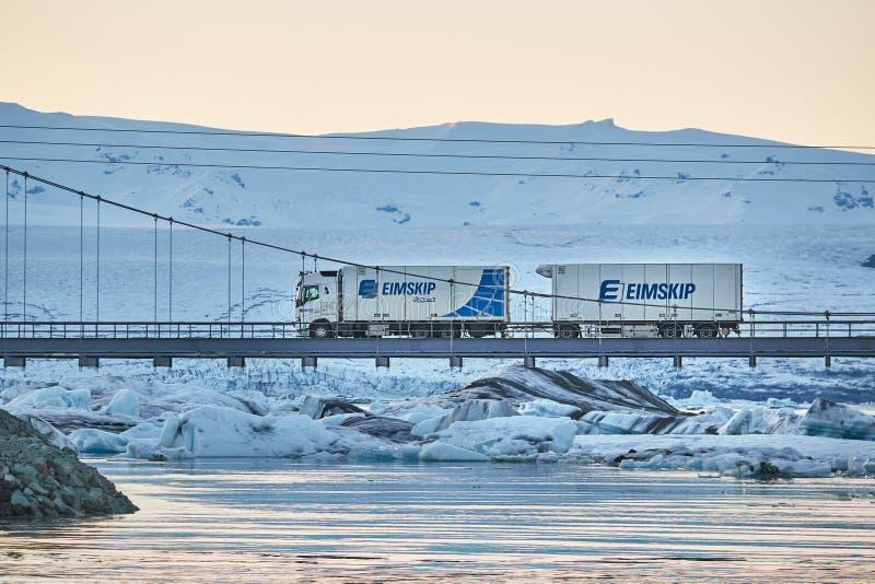 Camion islandese del carico fotografia stock libera da diritti