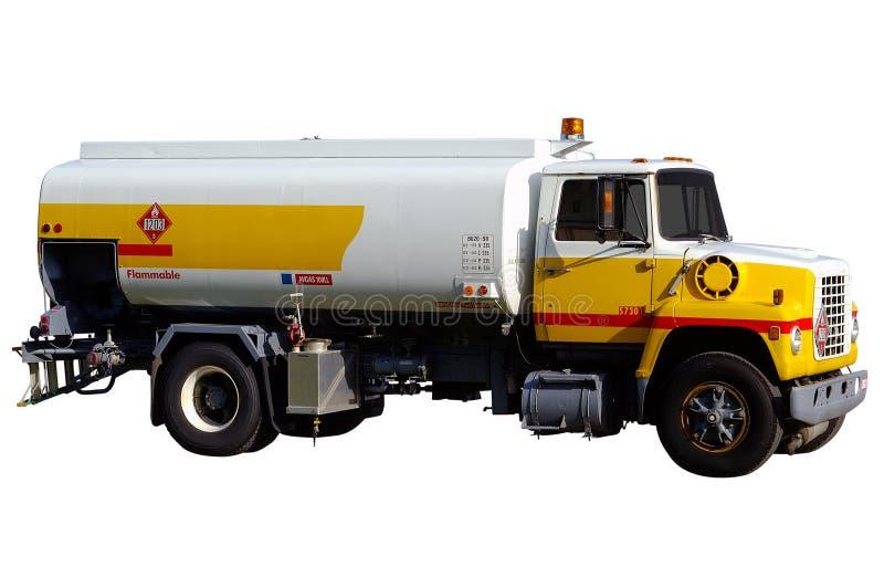 Camion isolato w/Paths del gas dell'aeroporto fotografia stock libera da diritti