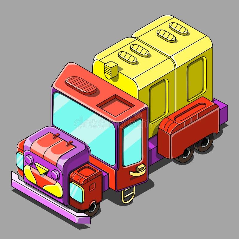 Camion isometrico fotografia stock libera da diritti