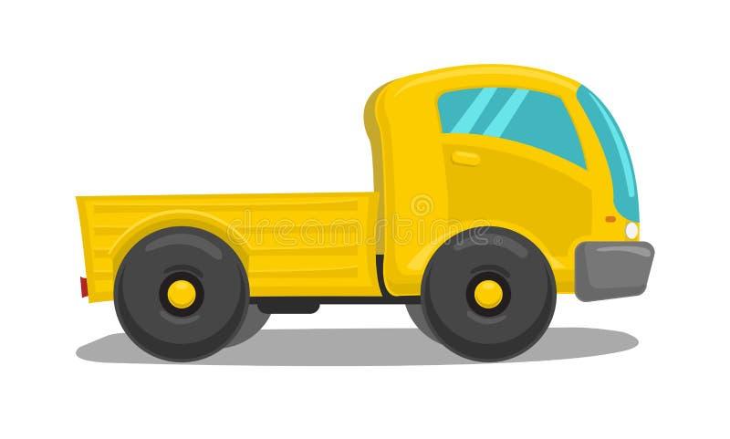 Camion jaune de vecteur illustration de vecteur