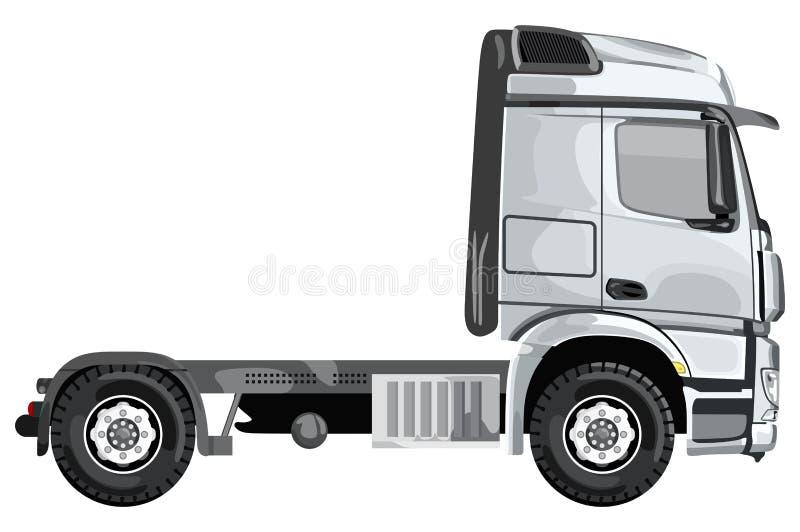 Camion laterale grigio royalty illustrazione gratis