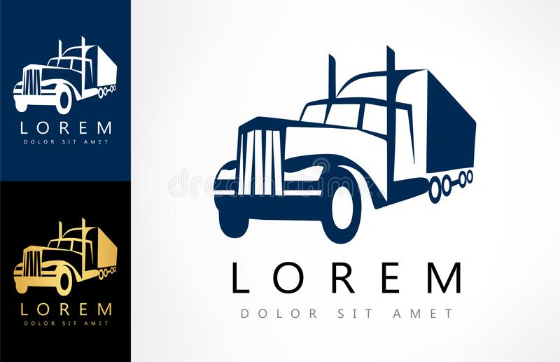 Camion Logo Vector illustration stock