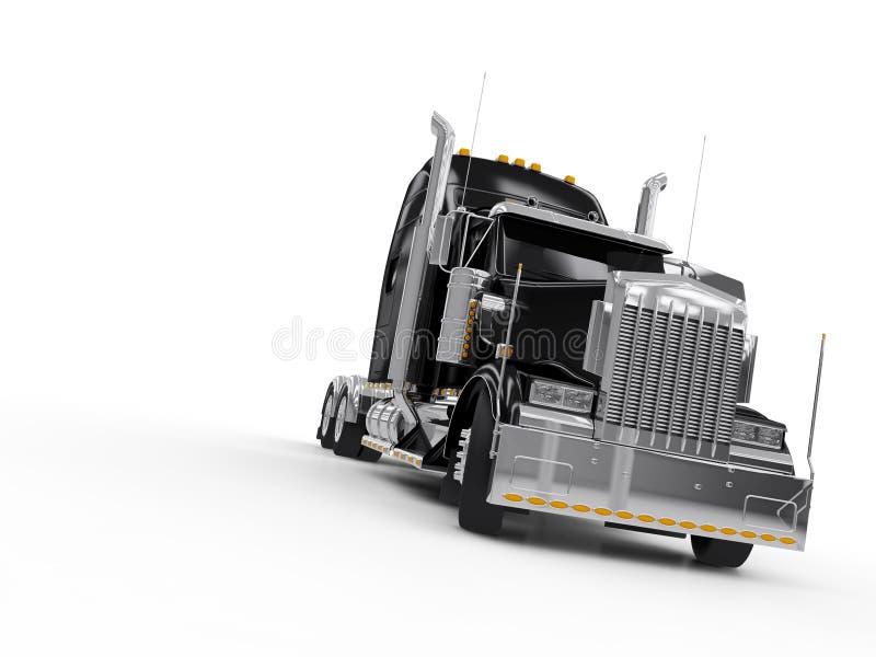 Camion Lourd Noir Photo libre de droits