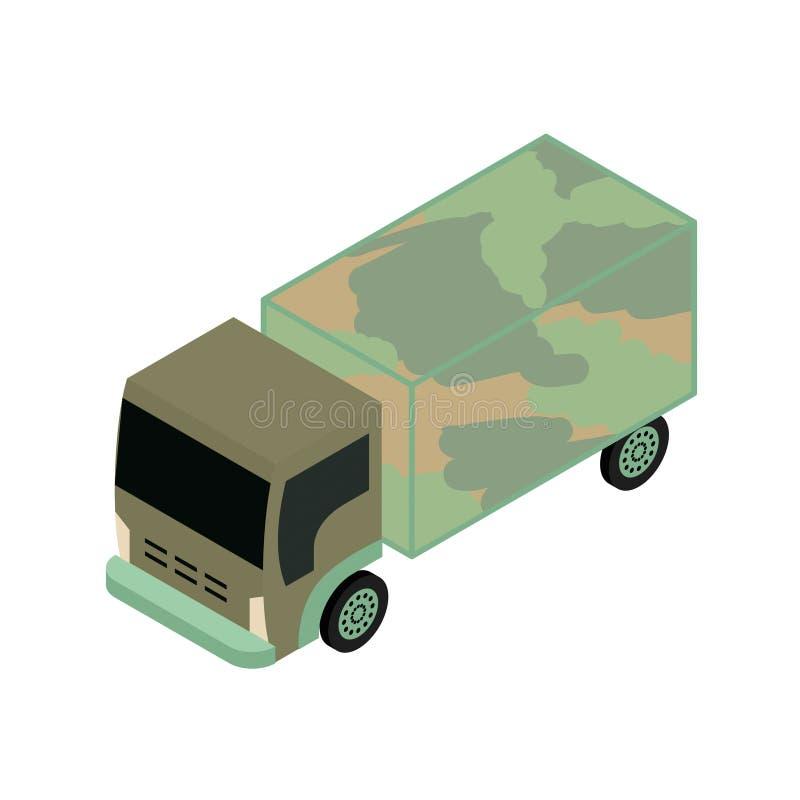 Camion militaire isométrique illustration libre de droits