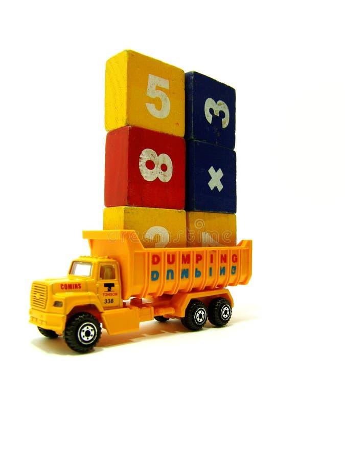 Camion miniatura caricato fotografie stock libere da diritti