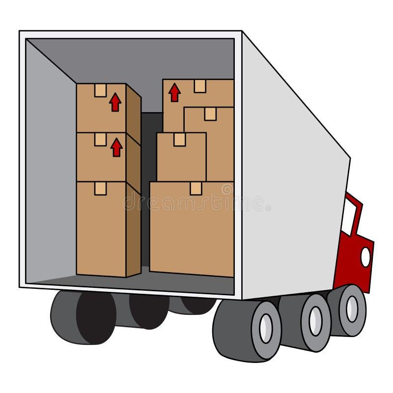 Camion mobile de relocalisation illustration libre de droits