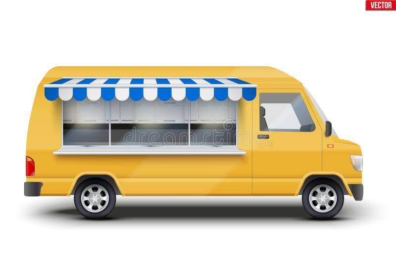 Camion moderno dell'alimento illustrazione vettoriale