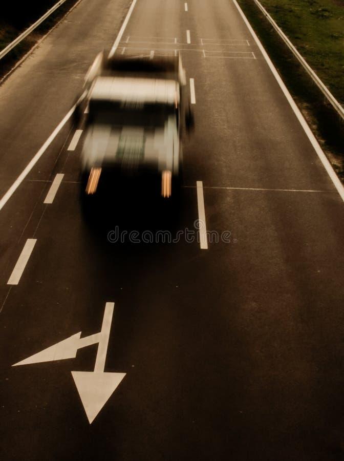 Camion nel movimento immagine stock libera da diritti