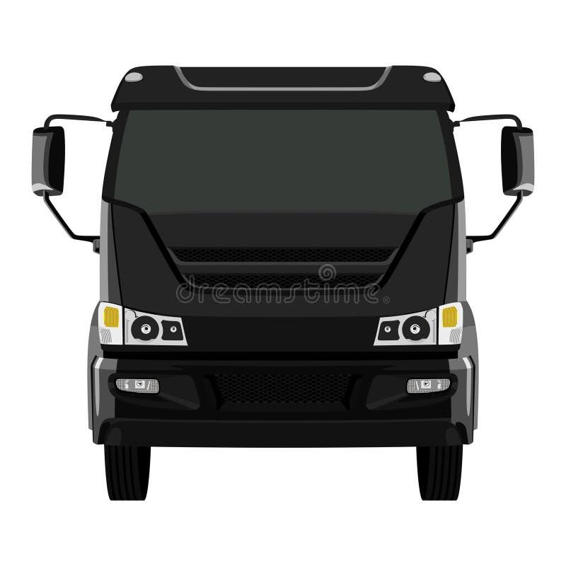 Camion nero anteriore royalty illustrazione gratis