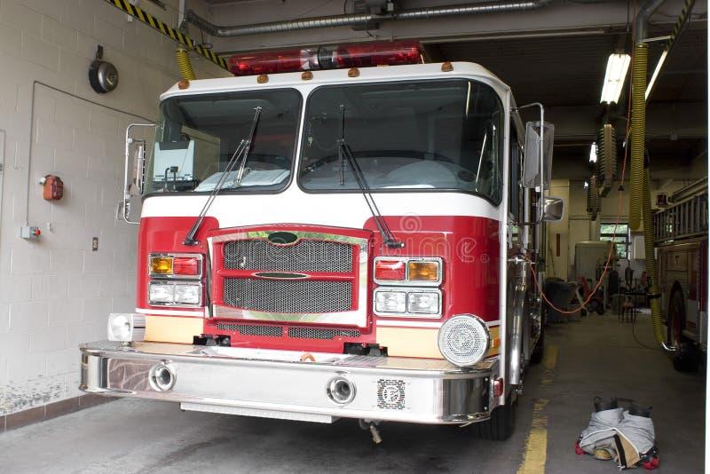 camion neuf d'incendie de marque photographie stock