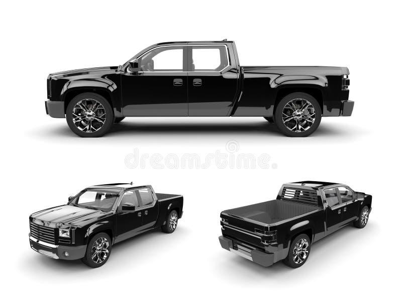 Camion noir illustration stock