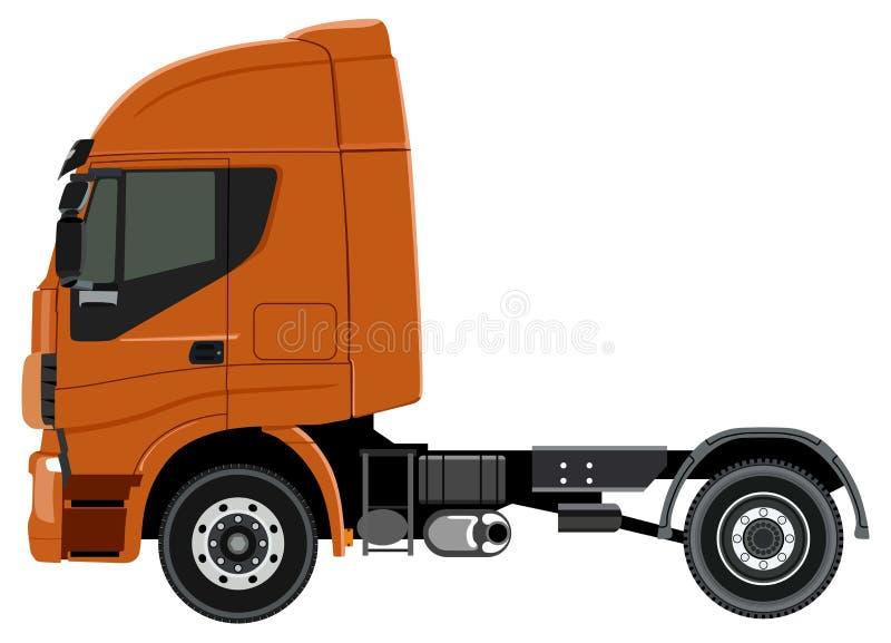 Camion orange illustration libre de droits