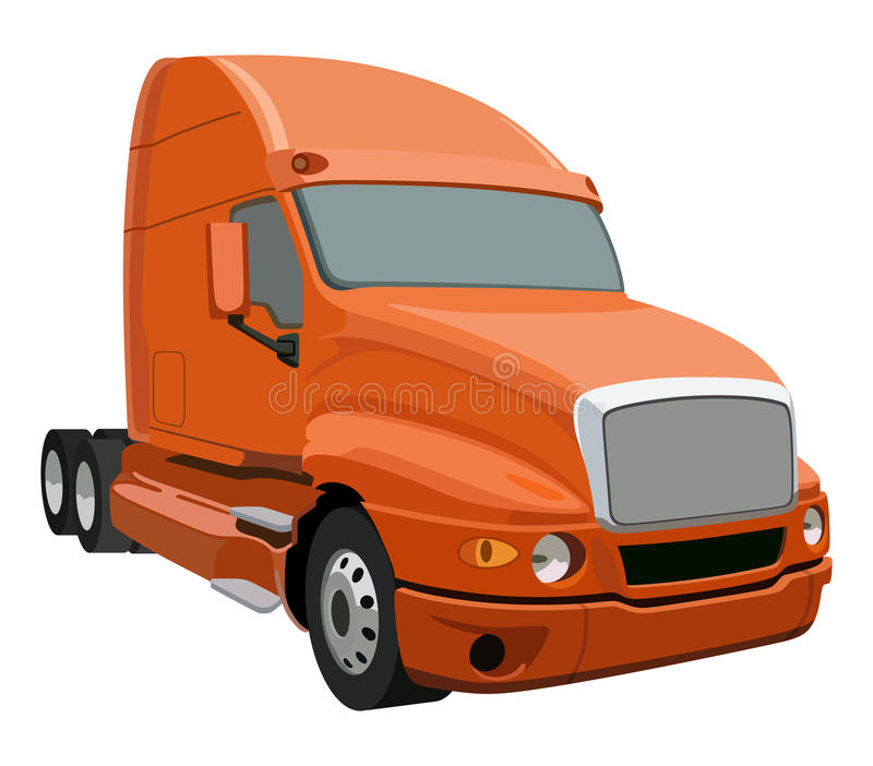 Camion orange illustration de vecteur