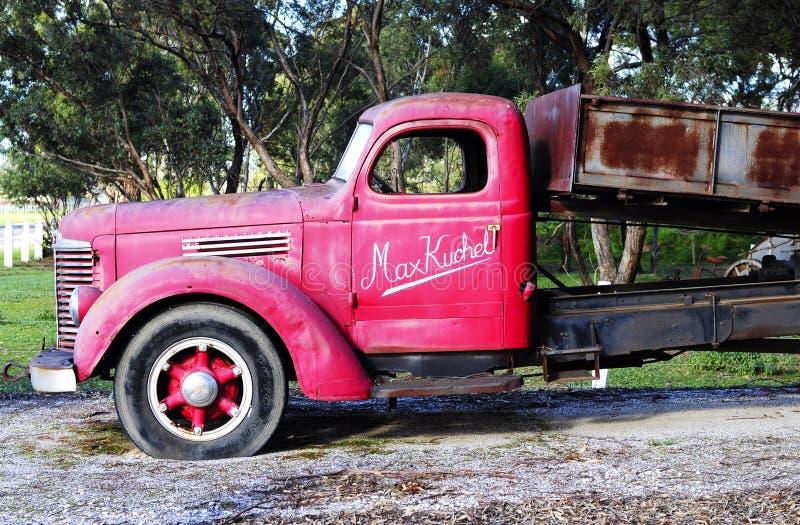 Camion originale che appartiene al hall of fame NRT, Maxwell Kuchel in Australia Meridionale fotografia stock