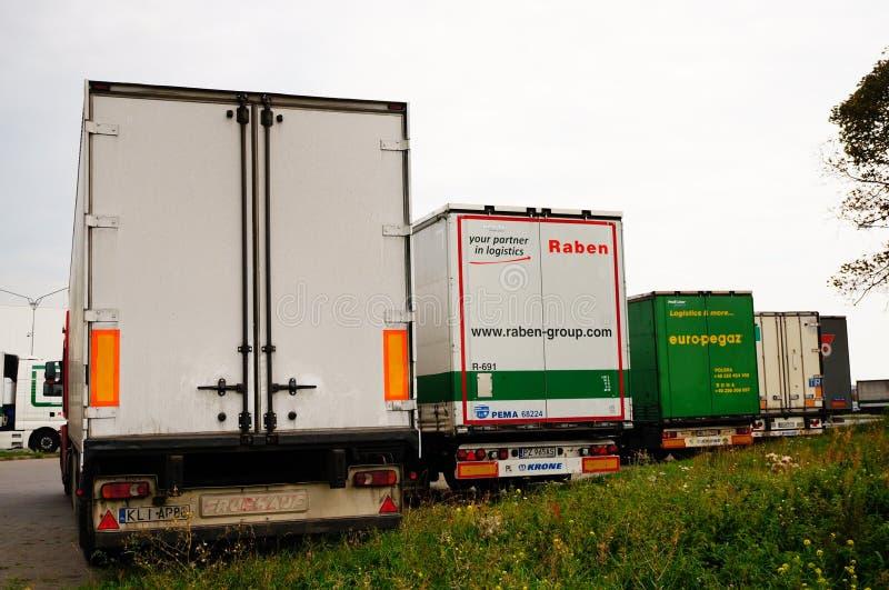 Camion parcheggiati immagine stock libera da diritti