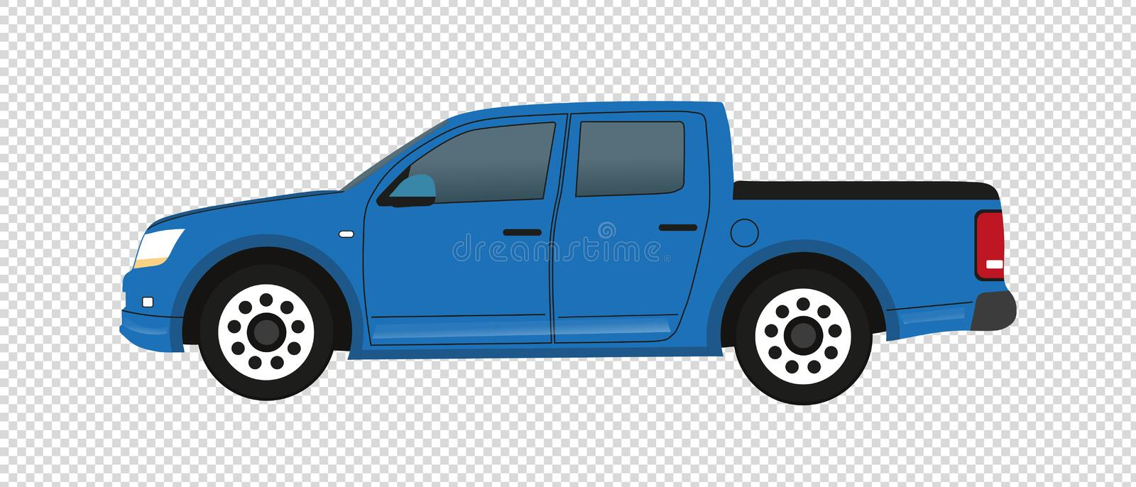 Camion pick-up bleu - illustration de vecteur - d'isolement sur le fond transparent illustration de vecteur