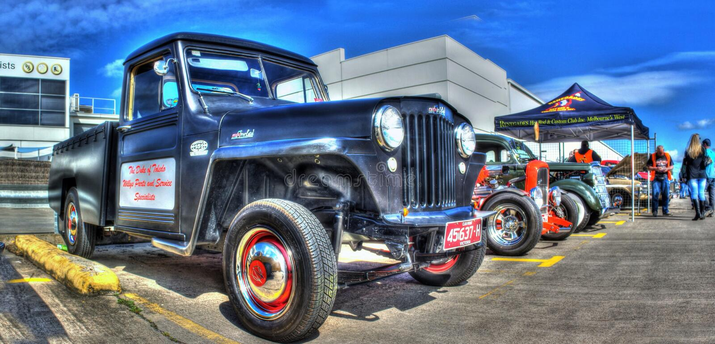 Camion pick-up classique de Willy Overland d'Américain image libre de droits