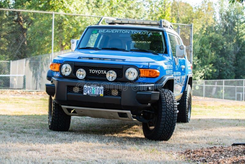 Camion pick-up de Toyota de police images libres de droits