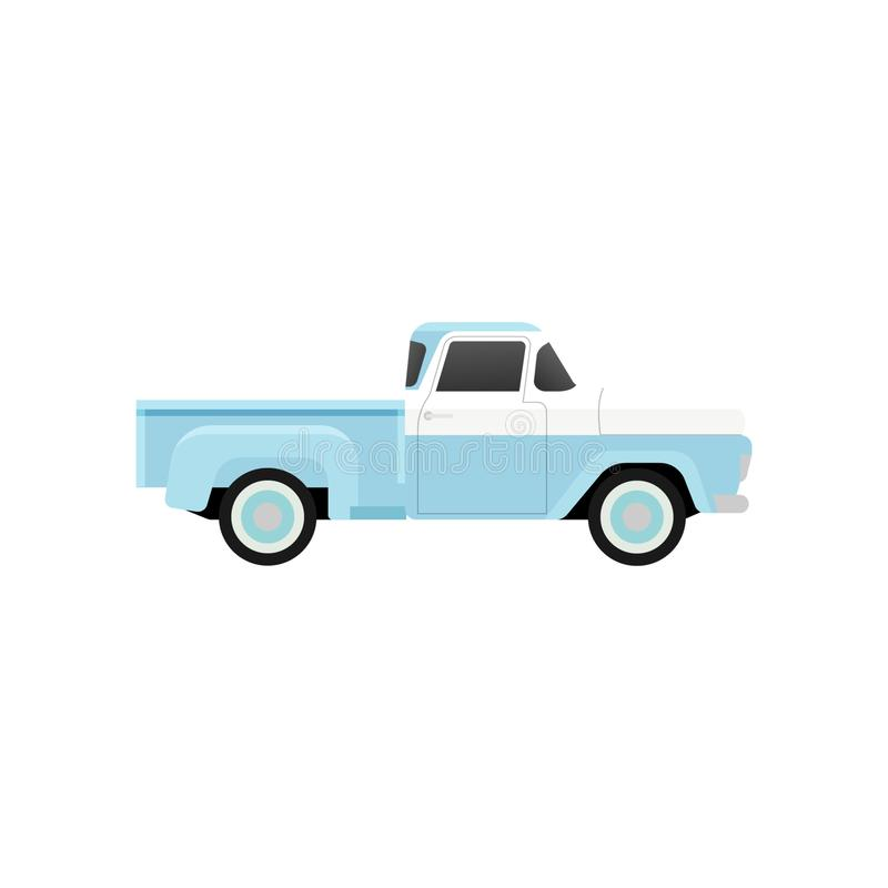 Camion pick-up de vintage illustration libre de droits