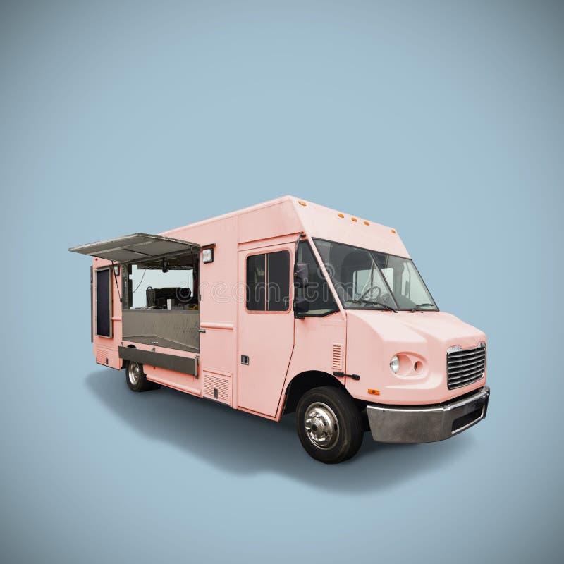 Camion rose de nourriture images stock