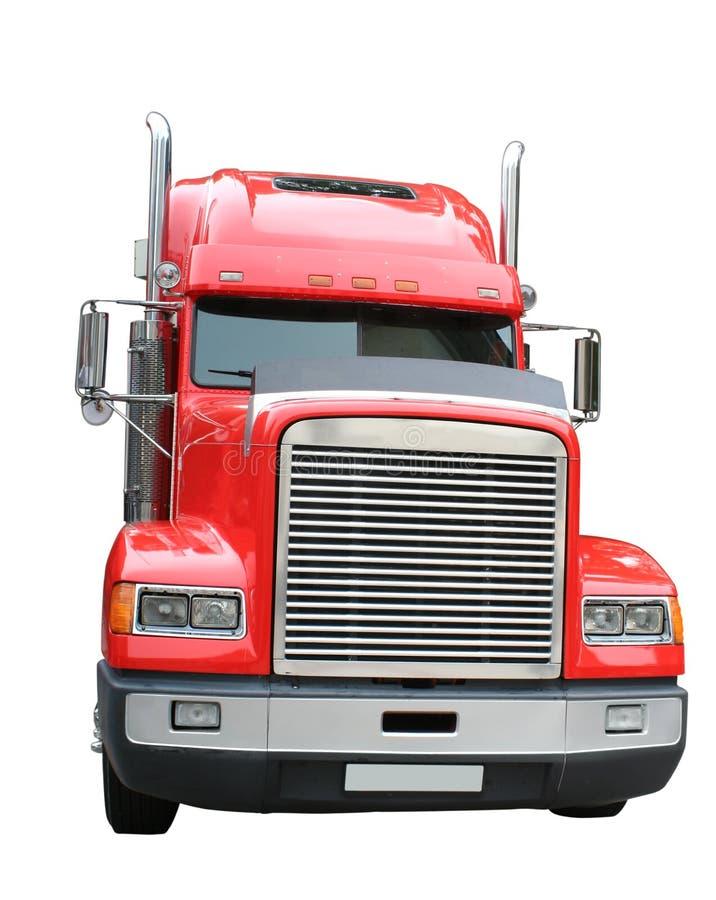 Camion rosso fotografia stock libera da diritti